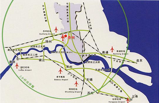 上海港口机场地图
